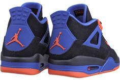 "NIKE AIR JORDAN Retro 4 ""Cavs"" 308497 027    Black / Safety Orange-Game Royal  ""Cavs"""