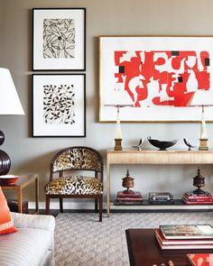 Alexa Hampton  Manhattan living room