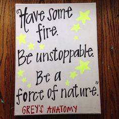 Have Some Fire Grey's Anatomy Canvas by MGcanvases on Etsy