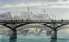 Le profil de la passerelle des Arts, Paris (Thierry Duval)
