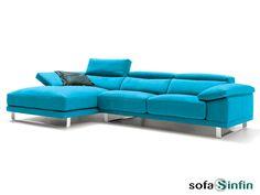 Sofassinfin.es Sofá 3 y 2 plazas con chaise-longue modelo Mito fabricado por Divani Star.