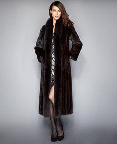 3760c216cd6 The Fur Vault Fox-Trimmed Mink Maxi Coat   Reviews - The Fur Vault - Women  - Macy s