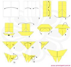 outro origami de borboleta