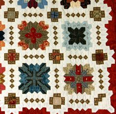 Pretty & Useful, POTC, Patchwork of the Crosses, Lucy Boston, Patchworkschablone - Pretty & Useful Quilt Square Patterns, Hexagon Quilt, Square Quilt, Cross Quilt, English Paper Piecing, Vintage Quilts, Hobbies And Crafts, Quilting Ideas, Quilt Blocks