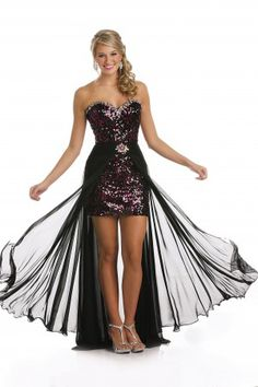 Hi Low Prom Dress   3588 as shown size 8
