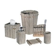 Spruce up your bathroom with the natural beauty of the seaside-inspired Destinations Driftwood Bath Ensemble. The faux wood in a weathered grey finish brings the beach boardwalk right into your home. Rustic rope accents add even more rustic charm. Nautical Bathroom Decor, Seaside Decor, Bathroom Colors, Beach House Decor, Beachy Bathroom Ideas, Rustic Beach Decor, Beach Condo, Western Decor, Bath Decor