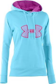 NEW! Under Armour® Women's Big Logo Hoodie (Color Cerise/Gray/Gray)