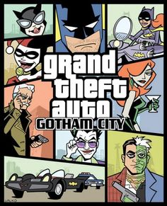 Grand theft auto Gotham City ;-) #GTA #Batman #SuperHeroes