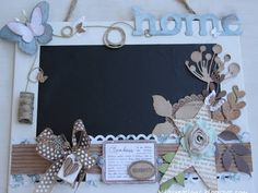 LAVAGNA Big Shot, Chalkboard, Picture Frames, Scrap, Classroom, Gift Ideas, Christmas Ornaments, Holiday Decor, Paper