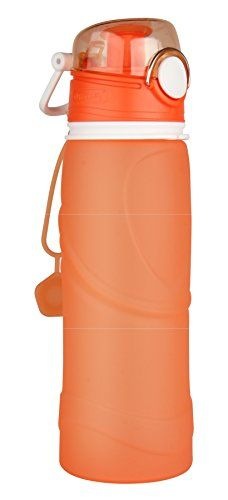 Ecofit Zone Collapsible Silicone Water Bottle 26oz  Orange -- Continue to the product at the image link.Note:It is affiliate link to Amazon.