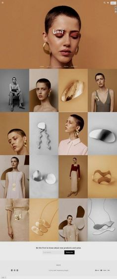 > loving the intersection of one figure and minimal jewellery photography > grid layout kept clean and sharp Layout Design, Site Web Design, Web Layout, Page Design, Design Design, Fashion Website Design, Web Design Color, Jewelry Photography, Love Photography