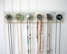 jewelry/scarf rack---I made something similar to this!  Neat idea  =)