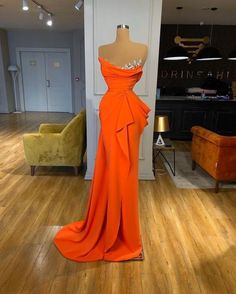 Find the perfect gown with Pageant Planet! Browse all of our beautiful prom and pageant gowns in our dress gallery. There's something for everyone, we even have plus size gowns! Pageant Dresses For Women, Gala Dresses, Pageant Gowns, Couture Dresses, Fashion Dresses, Long Dresses, Formal Dresses, Orange Prom Dresses, Orange Dress