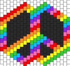 Peace Sign Mask Bead Pattern | Peyote Bead Patterns | Misc Bead Patterns