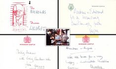 The heart-warming tags were attached to presents once under the royal Christmas tree, using pet names for each other.