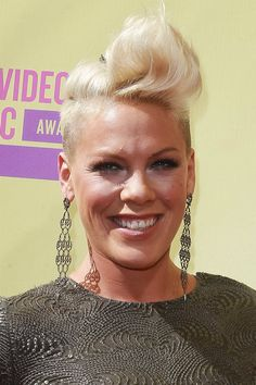 Pink's earrings are amazing.