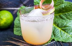Rhubarb margarita: Margarita med rabarbra