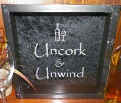 13x13 Wine Cork Holder Shadow Box, Uncork & Unwind, (or) Custom Wedding, Valentines Day Gift