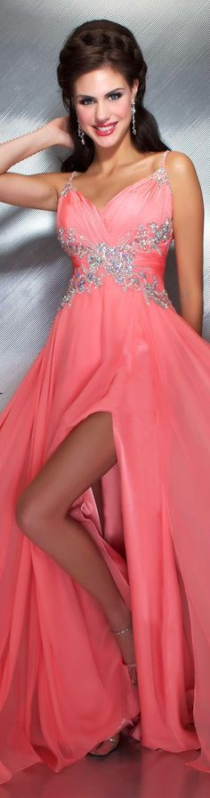 Mac Duggal couture dress coral #long #formal #dress MAC DUGGAL PROM STYLE 64406M