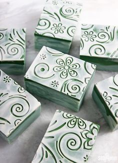 DIY Bamboo Mint Impression Cold Process Soap Tutorial