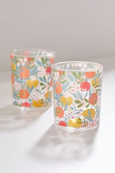 Allover Fruit Glass - Set Of 2
