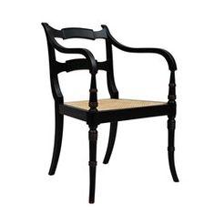 'Adam Arm Chair, Black
