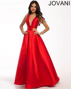 Red satin ballgown 22613
