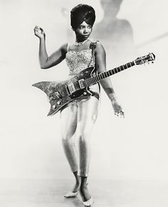 Bo Diddleys guitarist, Norma-Jean Wofford aka The Duchess. I know that teachers normally dont teach rock n roll history, but I have to include this pin on this board. A female guitarist in the Thats an accomplishment! Rock And Roll, Gretsch, Norma Jean, Blues Artists, Music Artists, Soul Artists, The Ventures, Dandy, Photo Star