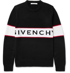 Givenchy Middle Logo Tape Wool Sweater In Black Cheap Mens Fashion, Dope Fashion, Fashion Outfits, Fashion Ideas, Fashion Inspiration, Givenchy Hoodie, Givenchy Man, Sweater Shirt, Men Sweater