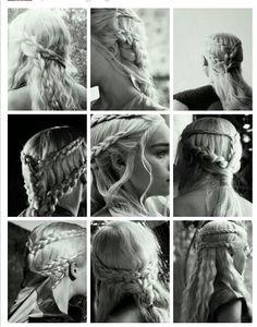 18 DIY Game of Thrones Inspired Hairstyles Khaleesi Braids Messy Hairstyles, Pretty Hairstyles, Wedding Hairstyles, Khaleesi Hair, Navy Hair, Image New, Diy Braids, Mother Of Dragons, Hair Colors