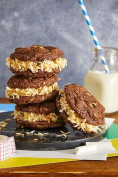 German Chocolate Sandwich Cookiescountryliving