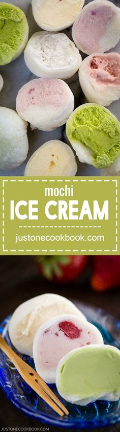 Mochi Ice Cream もちアイス - Looking for a fun cooking project with your children? Try Mochi ice cream!  The popular Japanese dessert is easier to make than you think! #mochiicecream #japanesedessert #asiandessert #desserts #mochi #kidssctivities #icecreamparty #asianrecipes #mochiicecreamhowtomake | Easy Japanese Recipes at JustOneCookbook.com