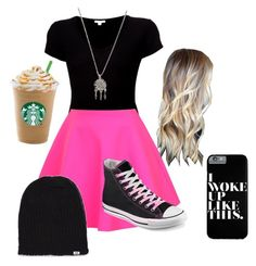 """""""Untitled #39"""" by sbfreshwater ❤ liked on Polyvore featuring moda, James Perse, UNIF, Converse, With Love From CA y Vans"""
