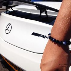 Perfection! Mercedes AMG - and our Cannes #mensbracelet. Both manufactured in the same city.