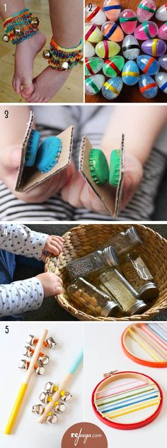 Ideas For Music Instruments Diy Kids Crafts Music Instruments Diy, Instrument Craft, Homemade Musical Instruments, Preschool Music, Music Activities, Infant Activities, Preschool Activities, Preschooler Crafts, Music Crafts