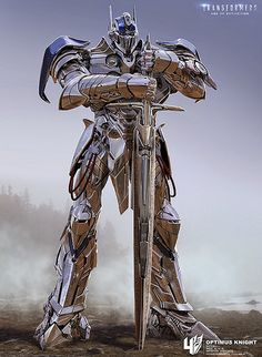Optimus Prime Chrome Knight - Transformers Age Of Extinction Transformers Optimus Prime, Gundam, Cyberpunk, Nemesis Prime, Arte Robot, Concept Art World, Silver Knight, Fantasy Creatures, Play Therapy