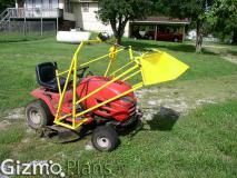 Lawn Tractor Loader Plans, DIY plans to build a small lawn tractor front end loader. Use to lift and haul those heavy items around the property. Garden Tractor Attachments, Yard Tractors, Homemade Tractor, Lawn Mower Repair, Tractor Accessories, Tractor Loader, Tractor Implements, Farm Tools, Garden Tools