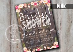 Simply Rustic Bridal Shower Invitation DIY PRINTABLE Customizable Digital Print by OurSmithNest on Etsy https://www.etsy.com/listing/238230052/simply-rustic-bridal-shower-invitation