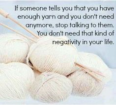 Too much yarn?