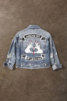 Painted Distressed Denim Jacket
