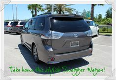 Your family-friendly ride CAN be stylish, fun, and exciting to drive - get behind the wheel of the 2016 Toyota Sienna in Orlando!