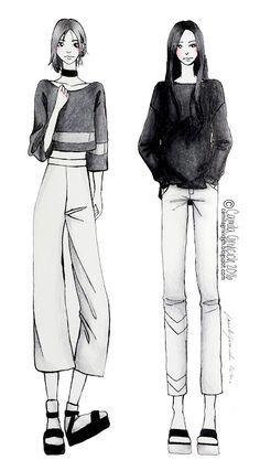 Gray - Fashion illustration
