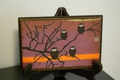 Easy halloween painting to do with scrap wood