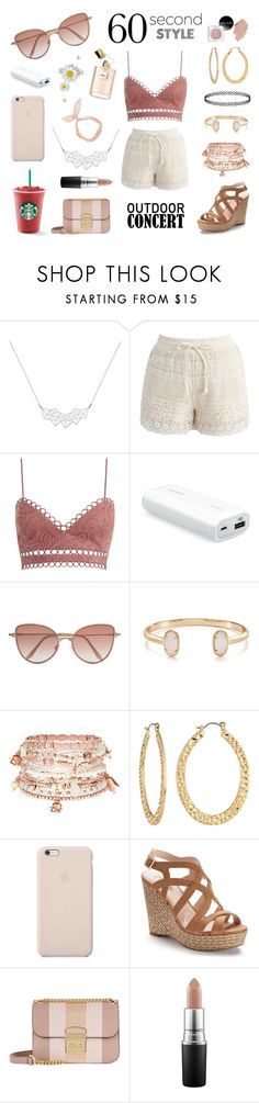 """""""60 Second Style : Outdoor Concert"""" by xorozetaxo ❤ liked on Polyvore featuring A Weathered Penny, Chicwish, Zimmermann, Cutler and Gross, Kendra Scott, Accessorize, Fragments, Black Apple, Jennifer Lopez and Michael Kors"""