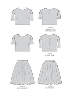 PRODUCT DESCRIPTION This crop top and matching skirt set is currently on trend. The skirt sits at the natural waist leaving only a slither of skin visible when worn with the matching crop top, ensuring a chic but tasteful look.  The semi fitted Crop Top has a back slit with button and loop neckline or button back closure. The Skirt, whether Gathered or Boxed Pleated - flares from a flat waistband into a full, sexy silhouette. This skirt features deep on seam pockets with an invisible zipper…