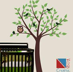 """Gesamtgröße H-75 """"W - 57"""" (190 x 145 cm) Aufkleber enthält: 1. Tree - wählen Sie eine Farbe - standardmäßig ist Brown 2. Leaves - bis zu 2 F..."""
