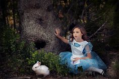 Disney inspired Alice in Wonderland children's photography