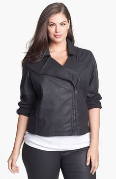 Eileen Fisher Waxed Twill Jacket (Plus Size)