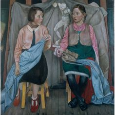 Two Schoolgirls by James Cowie Date painted: Oil on canvas, x cm Collection: Aberdeen Art Gallery & Museums Figure Painting, Figure Drawing, Aberdeen Art Gallery, Penguin Modern Classics, Art Uk, Your Paintings, Painting Portraits, Pastel Paintings, Large Art