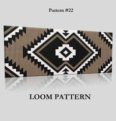 Sale 20% Delica Seed Bead Loom Pattern 22 Two Color